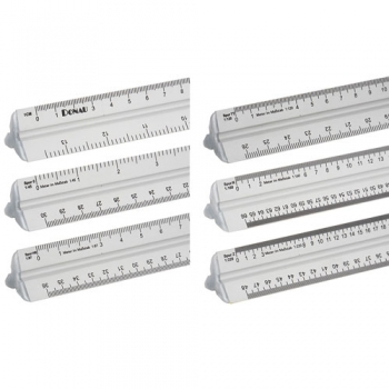 Alu Maßstabslineal 300 mm für Spur 0, H0, TT, N, Z