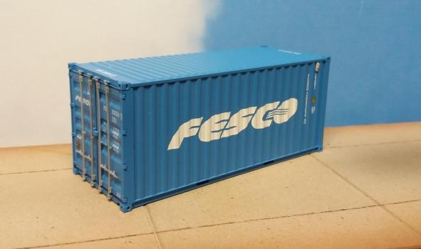 Container 20ft DV - FESCO (FESU209354i) in H0