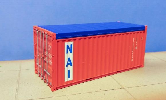 Container 20ft OT PSL NAV in H0