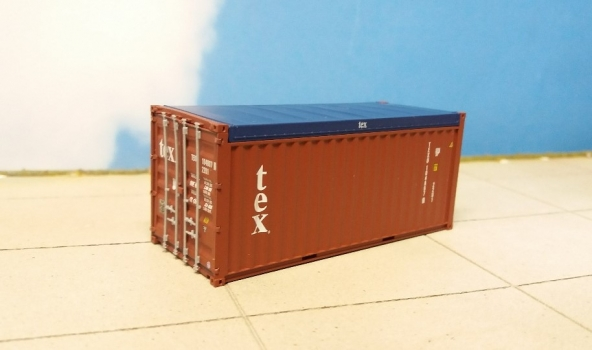 Container 20ft OT TEX (TEXU1048076) in H0