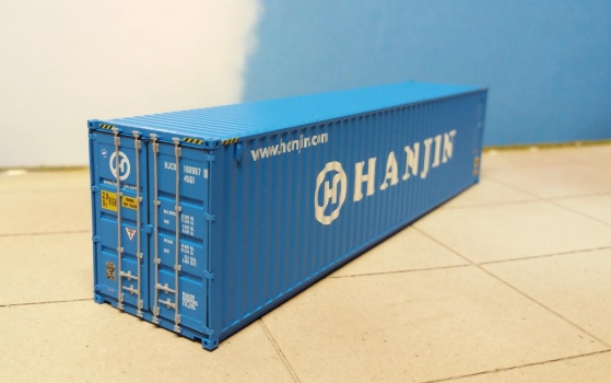 Container 40ft HC Hanjin (HJCU1689670) in H0