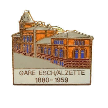 Pin - Gare Esch/Alzette 1880-1959 CFL (Luxembourg)