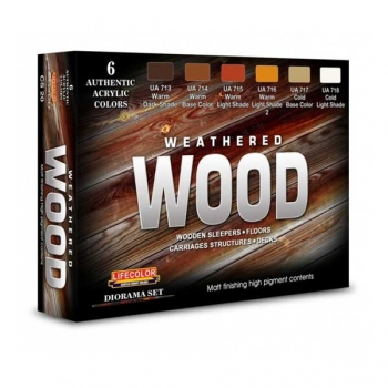 Lifecolor Weathered Wood - Set
