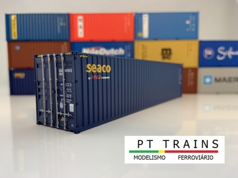 Container 40ft HC - HC SEACO (SEGU6478280) in H0