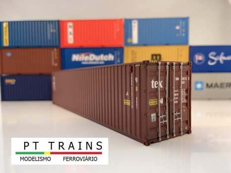 Container 40ft HC - TEX (TGBU6302153) in H0
